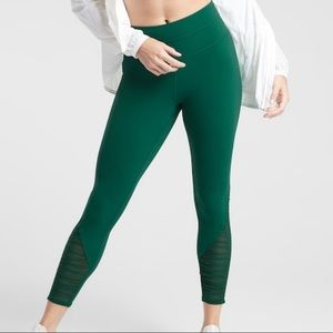 NWT Athleta Bakasana 7/8 Tight Dragonfly Green Sm.
